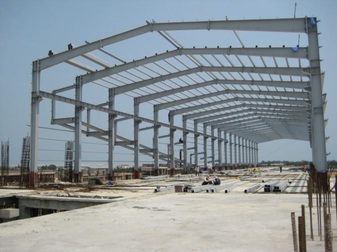Sản xuất và lắp dựng nhà máy kính nổi Chu Lai Quảng Nam năm 2008